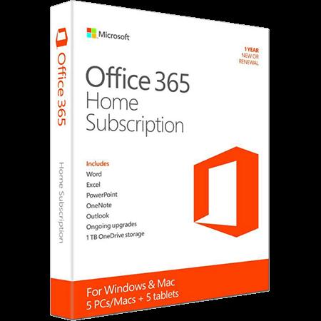 Microsoft Office 365 Home 5-PC/MAC 1 year