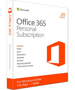 Microsoft Office 365 Personal 1-PC/MAC 1 year