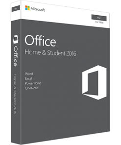 Microsoft Office for MAC Home and Student 2016 1-Desktop